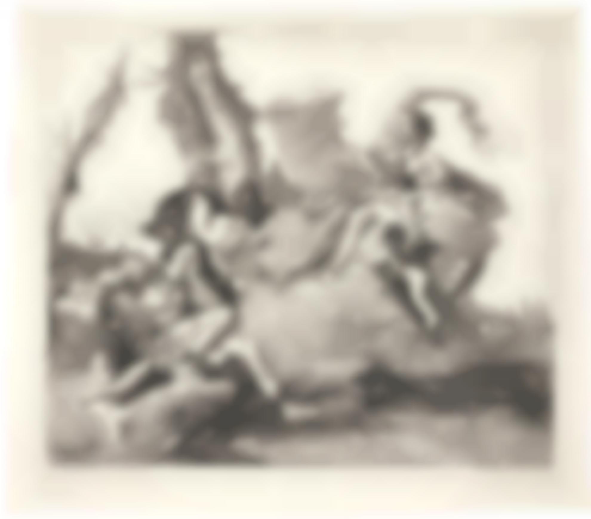 Giovanni Domenico Tiepolo-Armida Falls In Love With Rinaldo; And The Baptism Of The Emperor Constantine (De Vesme 94, 83; Rizzi 146, 134)-1760