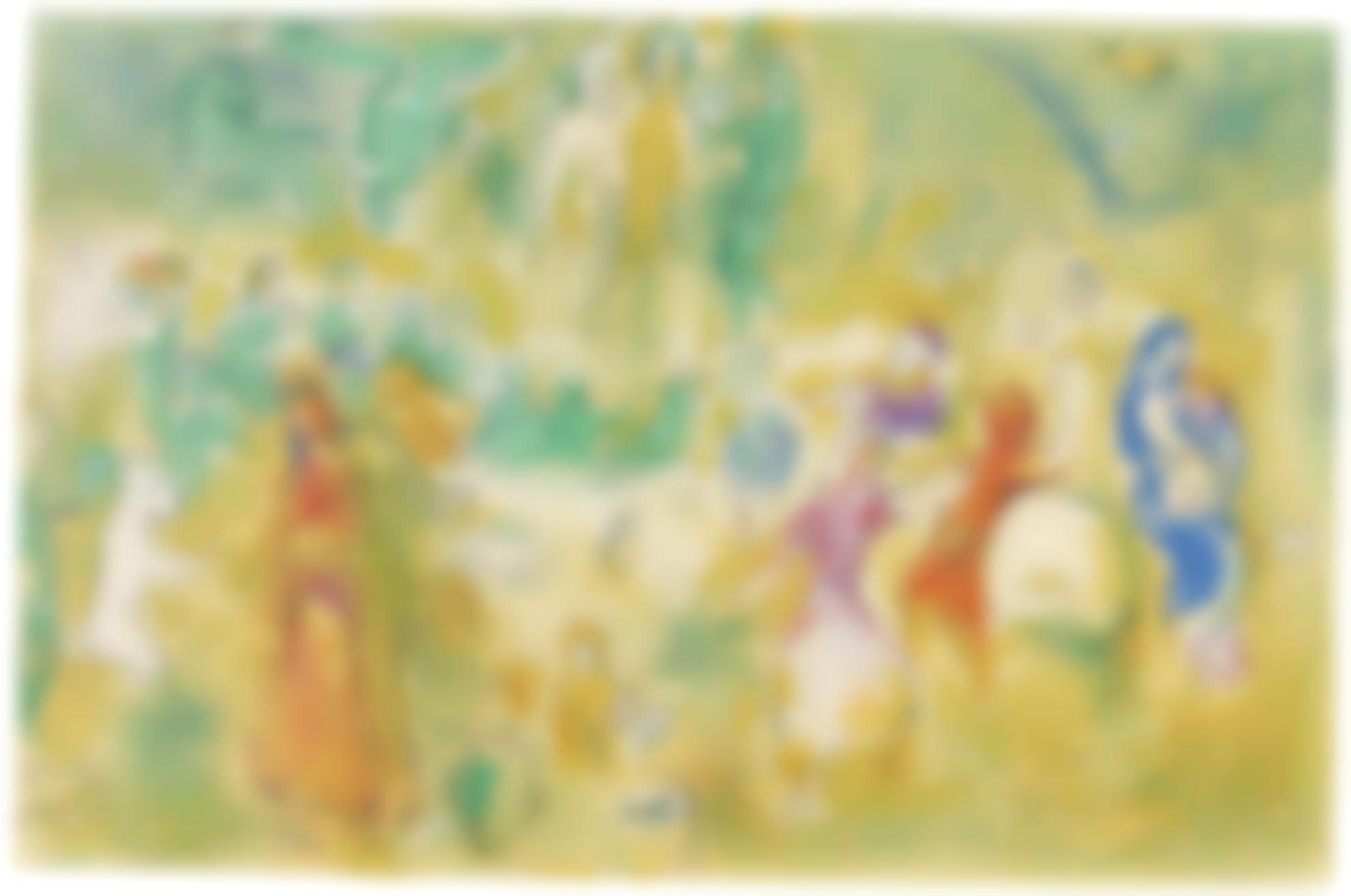 Marc Chagall-Festin Nuptial Dans La Grotte Des Nymphes (M. 348; Cramer Books 46)-1961