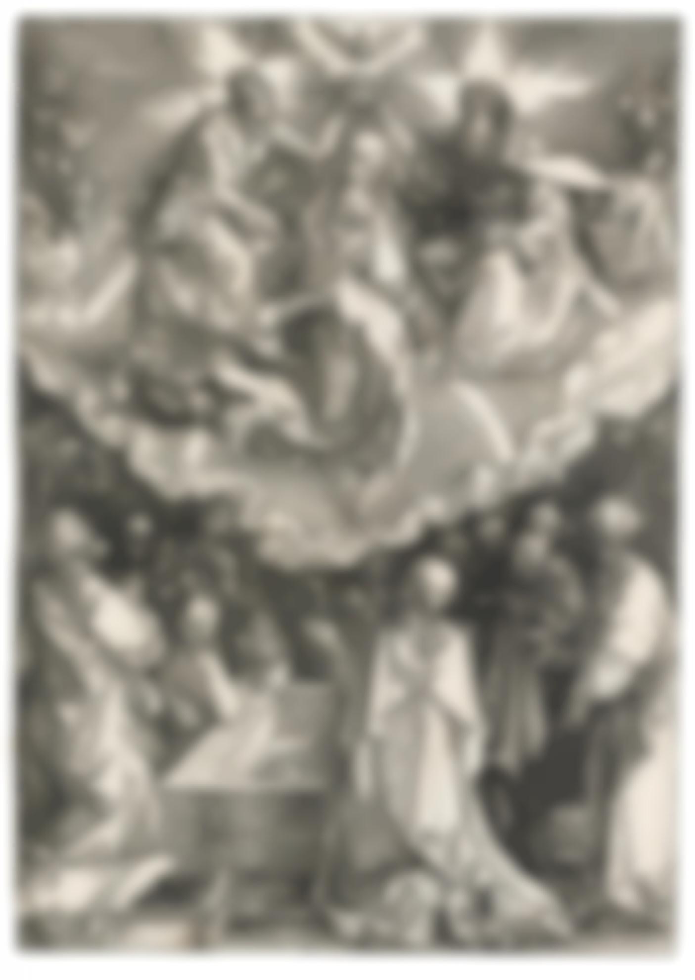 Albrecht Durer-The Assumption And Coronation Of The Virgin (B. 94; M., Holl. 206)-1510