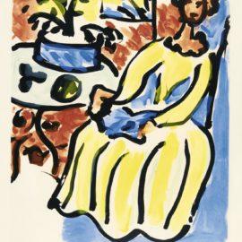 Henri Matisse-Marie-Jose En Robe Jaune (Duthuit 817)-1950