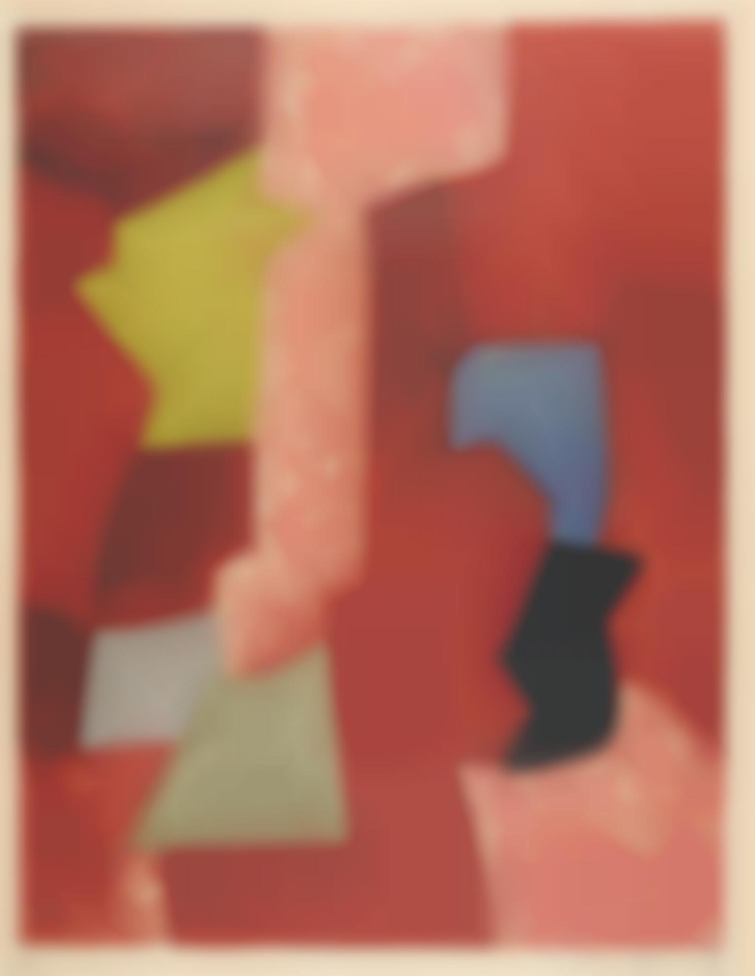 Serge Poliakoff-Composition Rouge, Jaune Et Bleue (Riviere 13)-1957