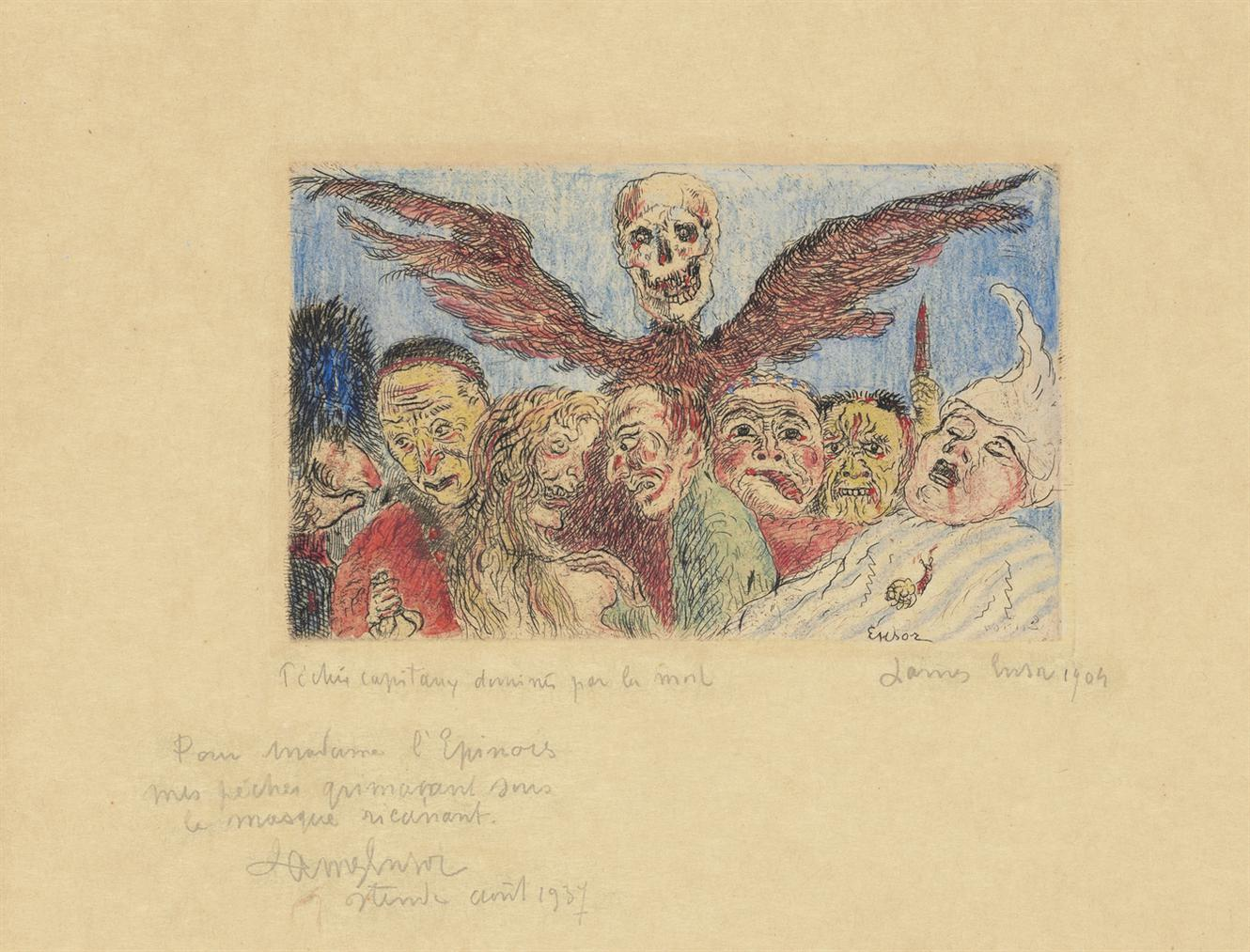 James Ensor-Peches Capitaux Domines Par La Mort, From: Les Sept Peches Capitaux (The Deadly Sins Dominated By Death, From: The Seven Deadly Sins)-1904