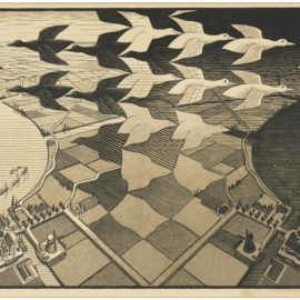Maurits Cornelis Escher-Day And Night-1938