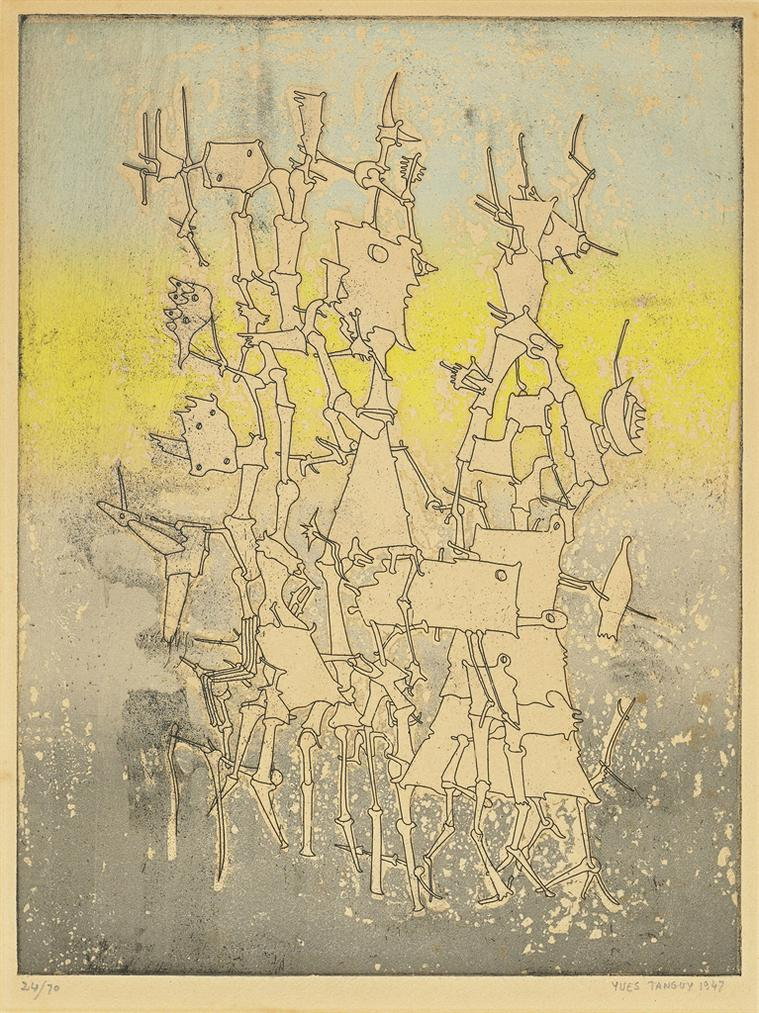 Yves Tanguy-Rhabdomancie, From: Brunidor Portfolio No. 1-1947