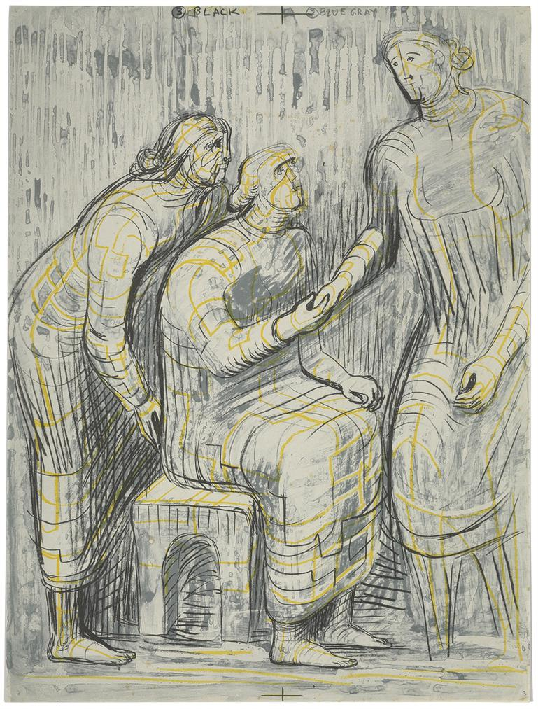 Henry Moore-Three Female Figures-1950