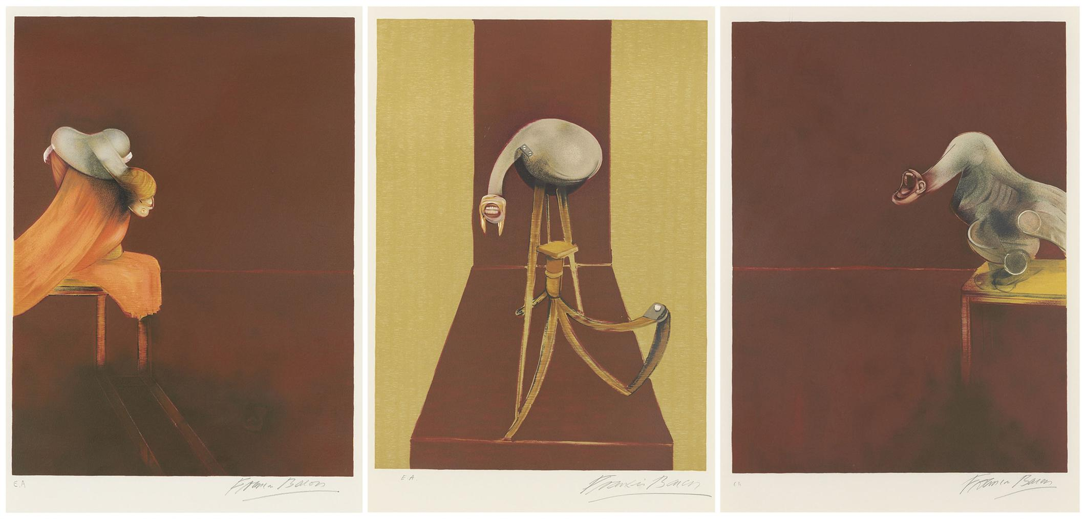 Francis Bacon-Second Version, Triptych 1944-1989