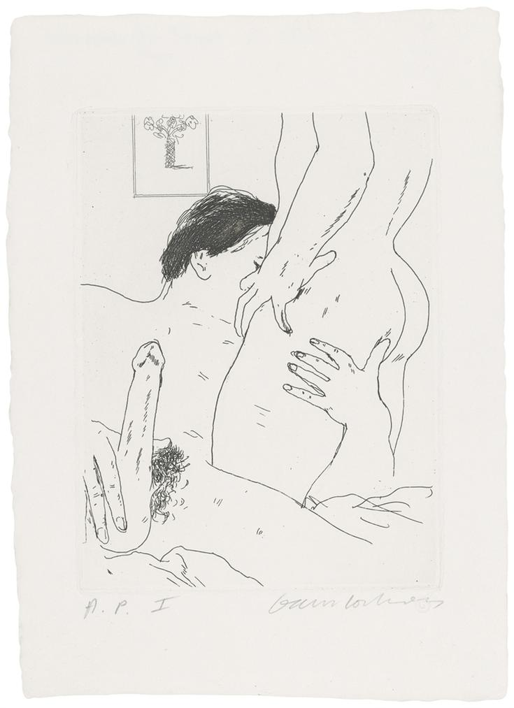 David Hockney-An Erotic Etching-1975