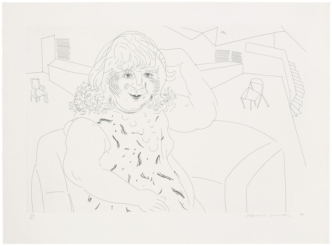 David Hockney-Ann In The Studio-1984