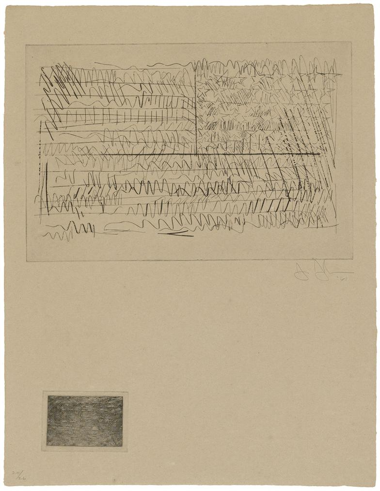 Jasper Johns-One Plate (Flag), From: 1St Etchings-1968