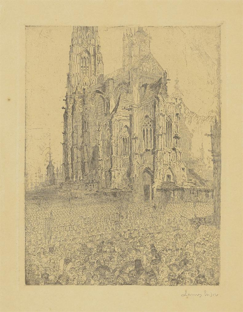James Ensor-La Cathedrale (The Cathedral)-1886