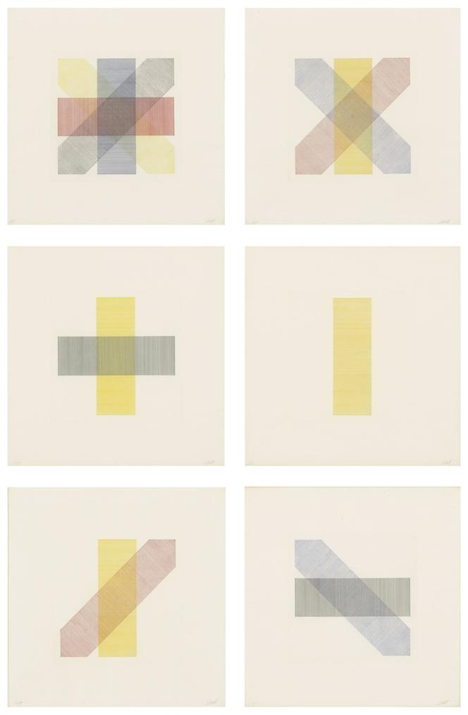 Sol LeWitt-Bands Of Colour In Four Directions And All Combinations-1971