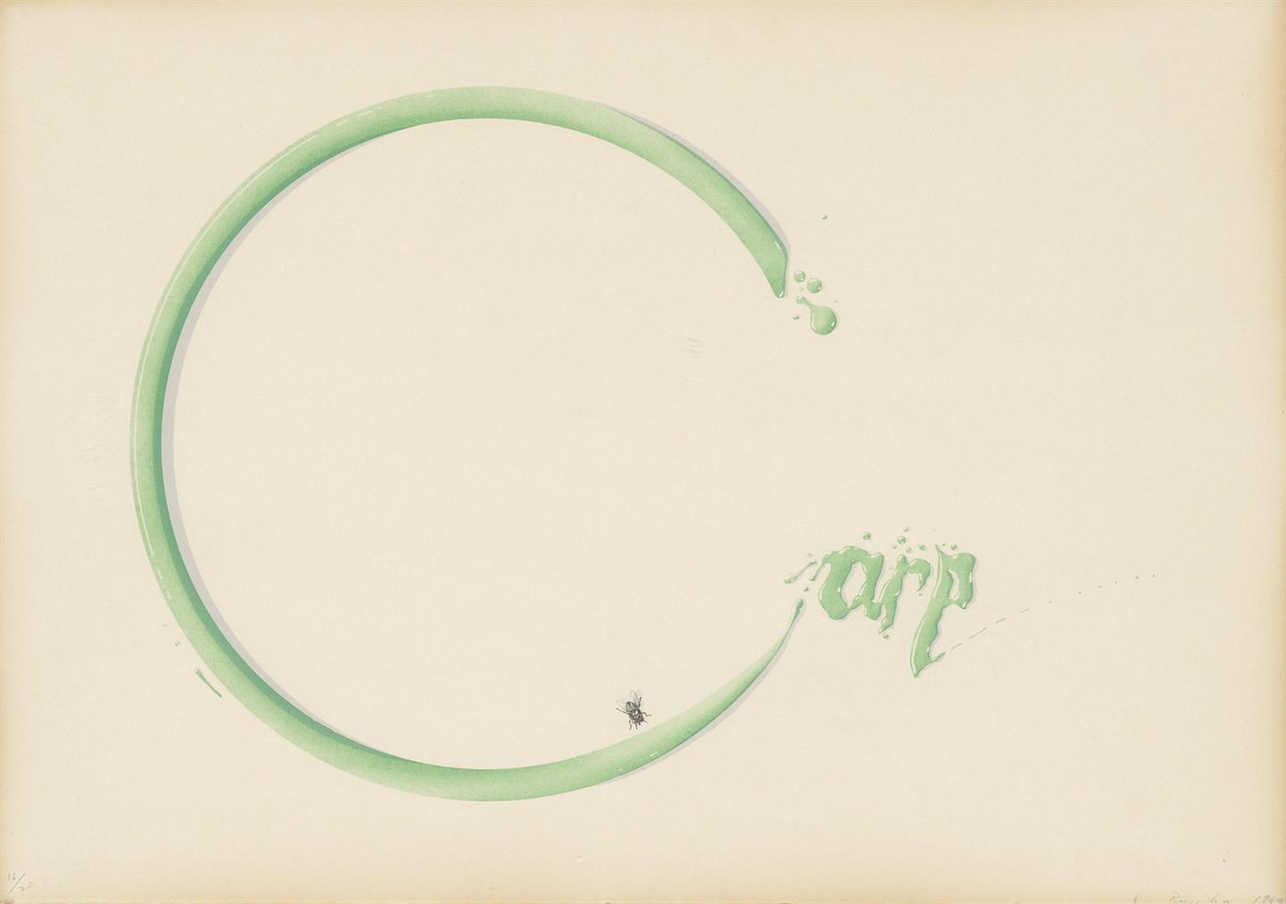 Ed Ruscha-Carp With Fly-1969