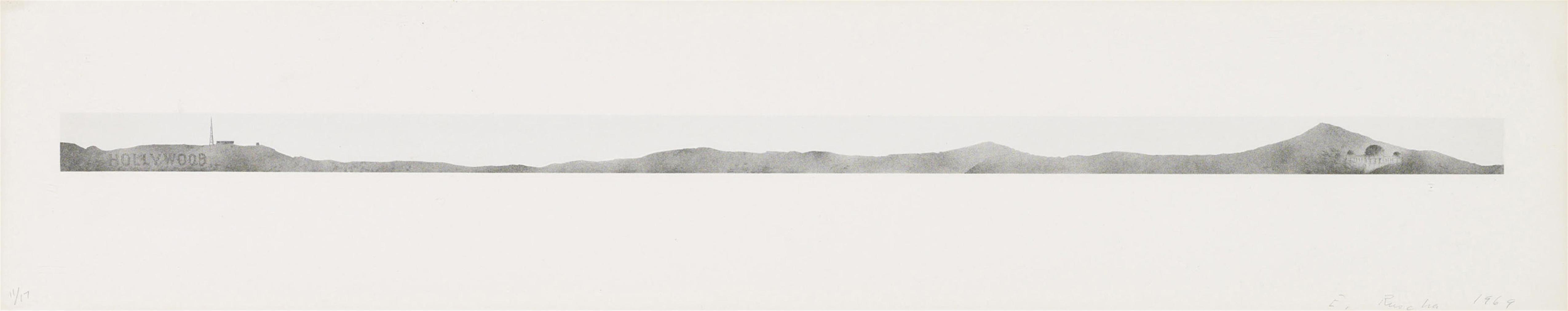 Ed Ruscha-Hollywood With Observatory-1969