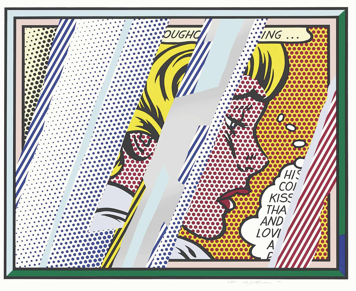 Roy Lichtenstein-Reflections On Girl, From: Reflections Series-1990