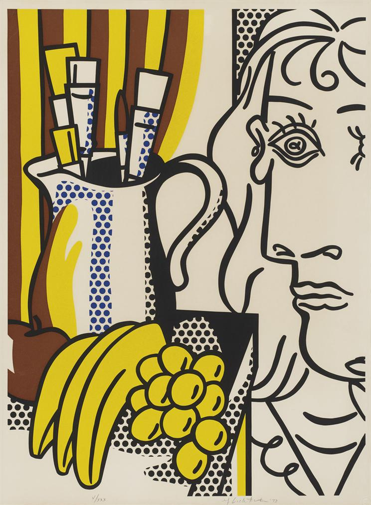 Roy Lichtensein - Still Life With Picasso, From: Hommage A Picasso-1973