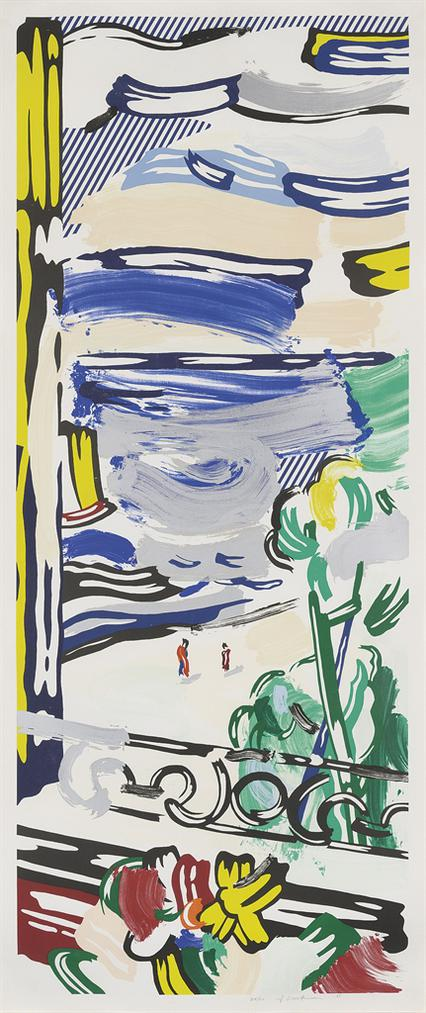 Roy Lichtenstein-View From The Window, From: Landscape Series-1985