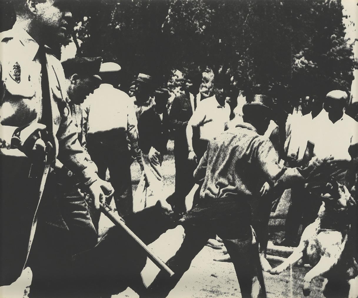 Andy Warhol-Birmingham Race Riot, From: Ten Works By Ten Painters-1964