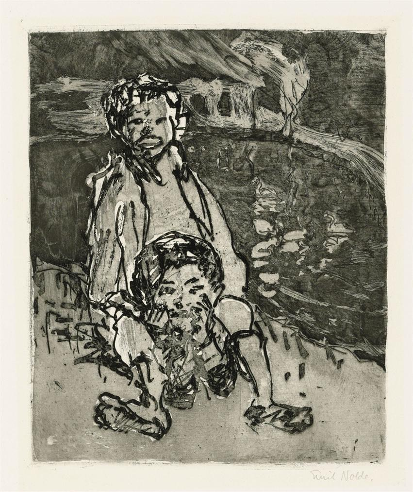 Emil Nolde-Jungs-1908