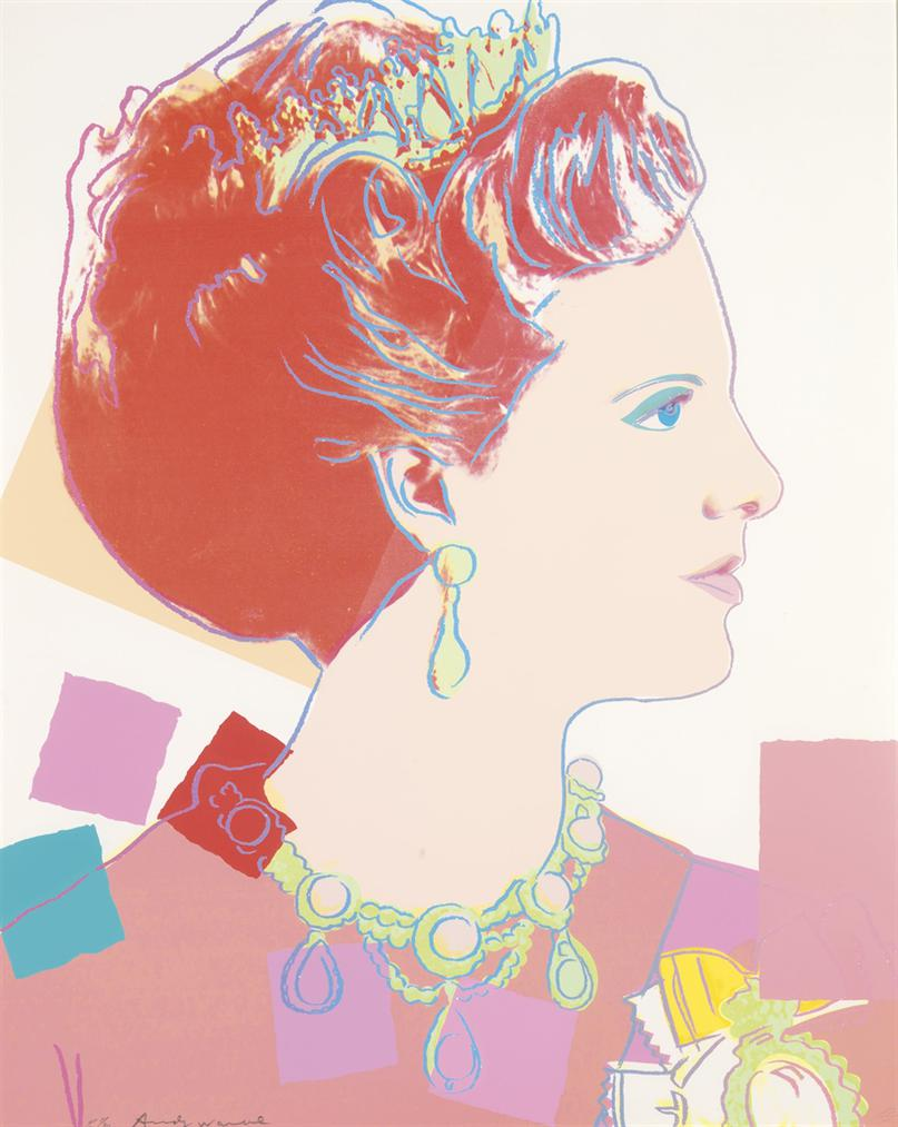 Andy Warhol-Queen Margrethe II, From: Reigning Queens (Royal Edition)-1985