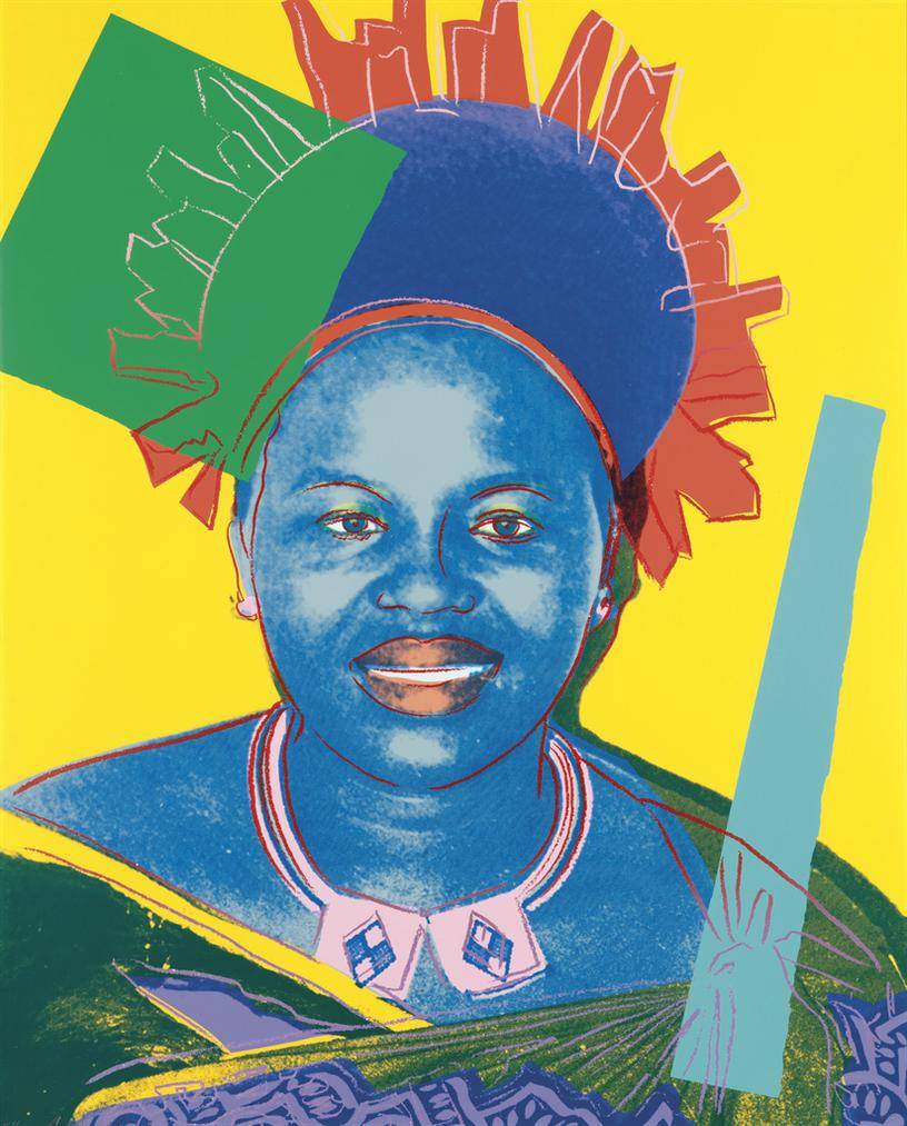 Andy Warhol-Queen Ntombi Twala, From: Reigning Queens (Royal Edition)-1985