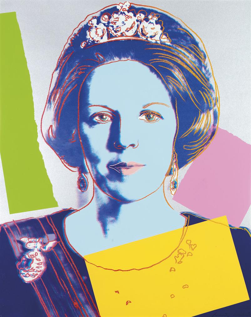 Andy Warhol-Queen Beatrix, From: Reigning Queens (Royal Edition)-1985