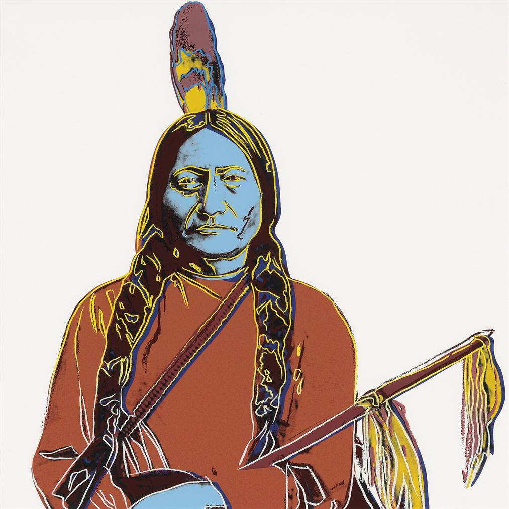 Andy Warhol-Sitting Bull-1986
