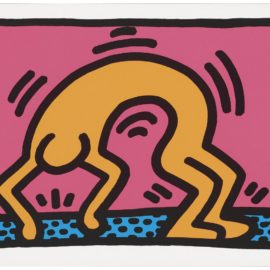 Keith Haring-One Plate From: Pop Shop II-1988