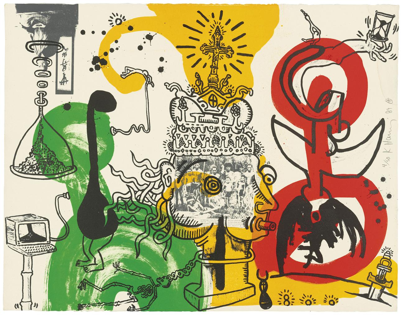 Keith Haring-The King-1989