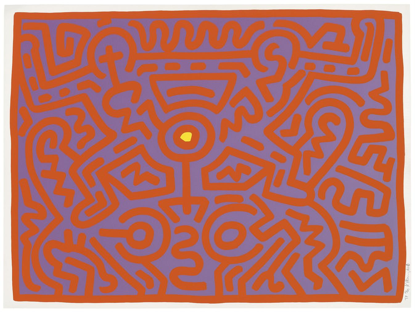 Keith Haring-One Plate, From: Growing-1988