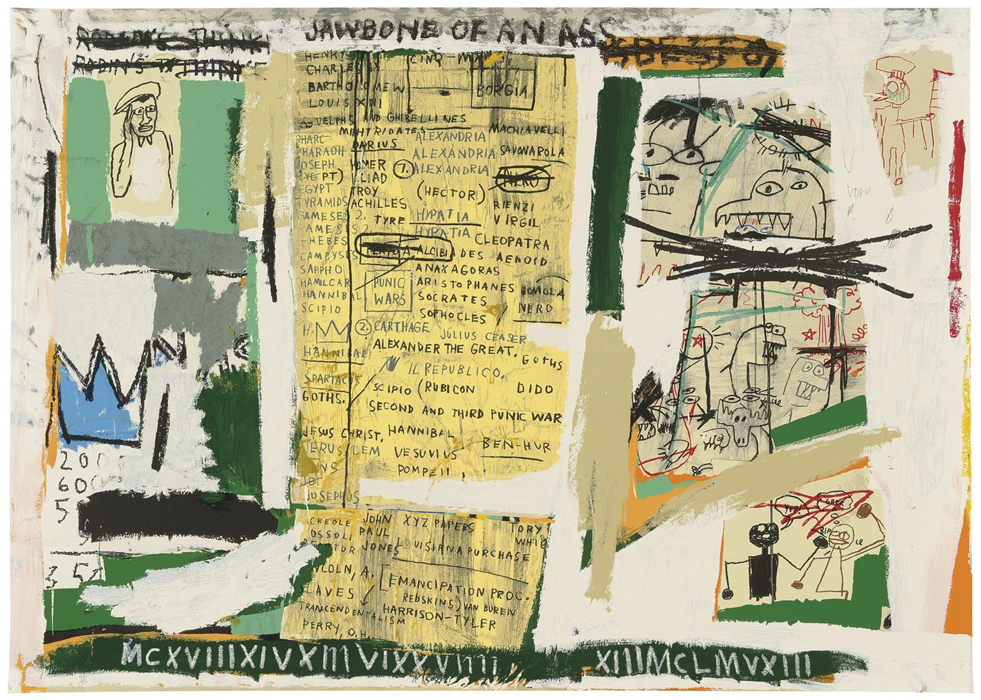 Jean-Michel Basquiat-After Jean-Michel Basquiat - Jawbone Of An Ass-1982