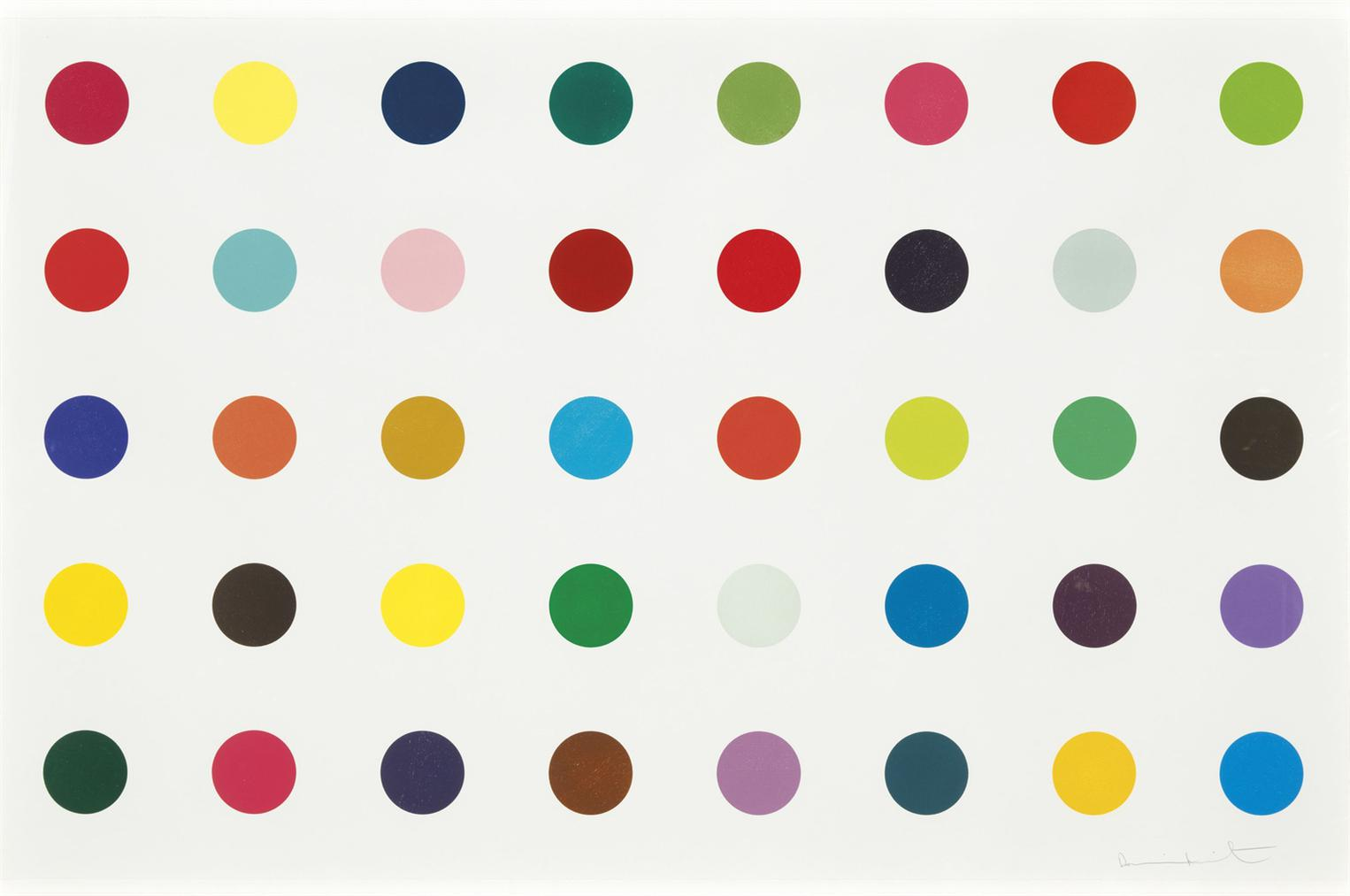 Damien Hirst-Methyl Phenylsulfoxide, From: 12 Woodcut Spots-2010