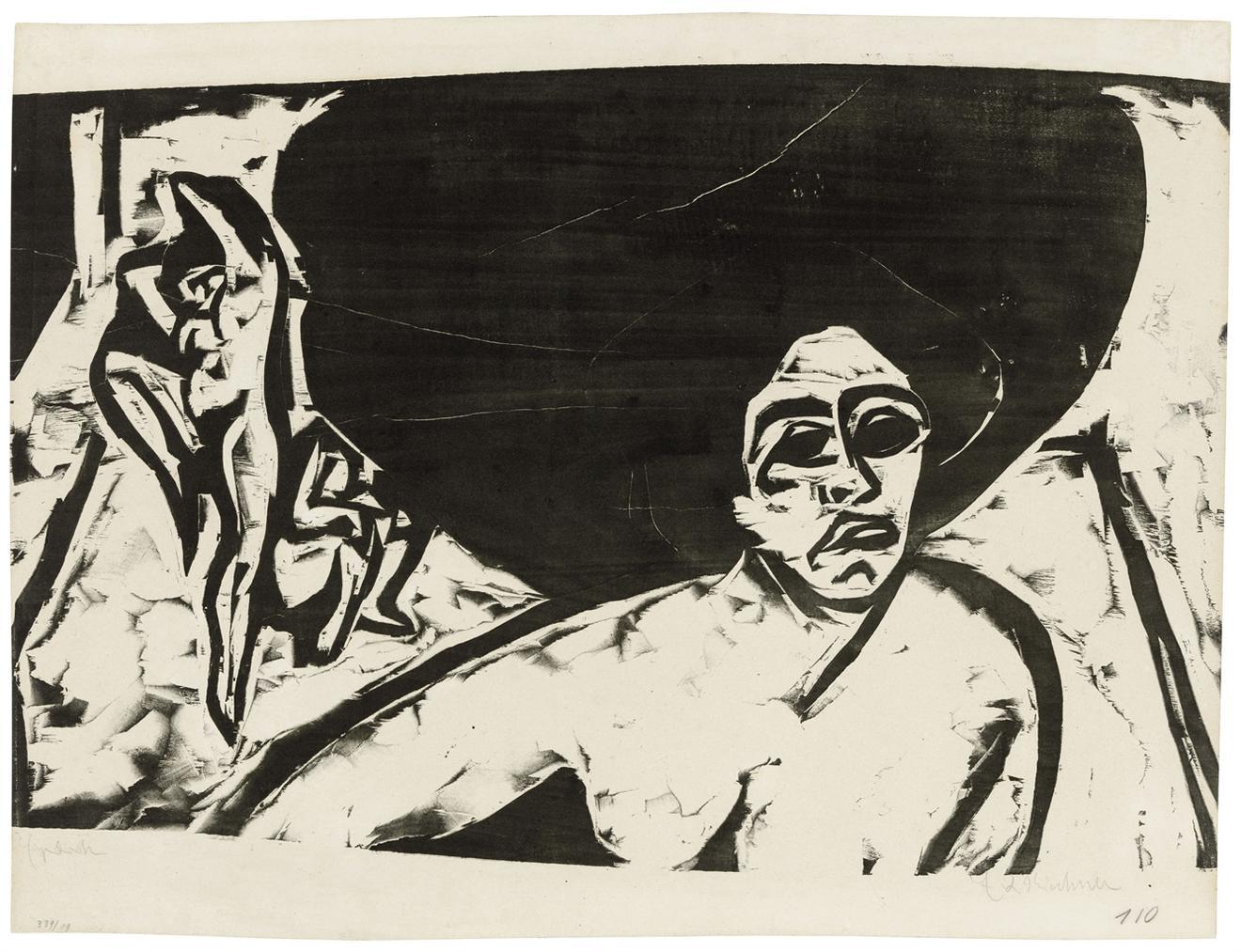 Ernst Ludwig Kirchner-Nackte Tanzerinnen-1909