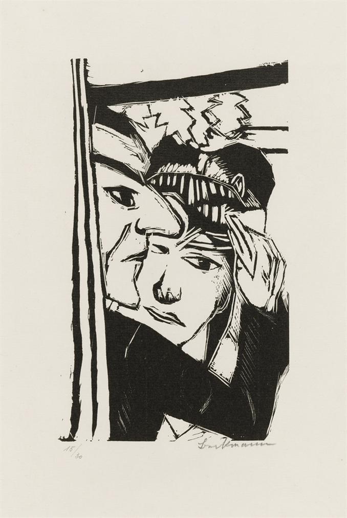 Max Beckmann-Tanzendes Paar-1922