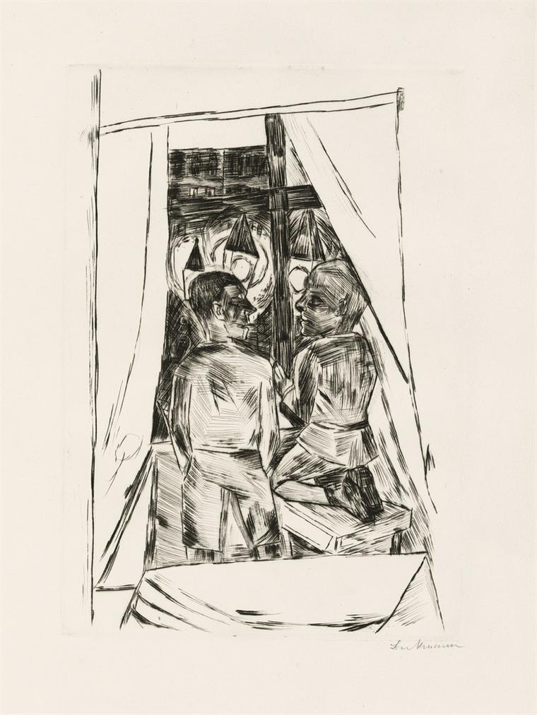 Max Beckmann-Kinder Am Fenster-1922