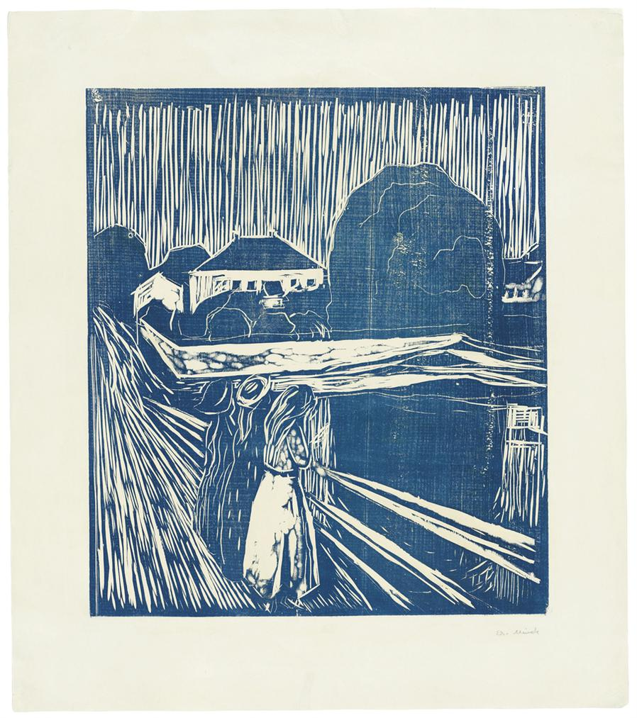 Edvard Munch-The Girls On The Bridge-1918