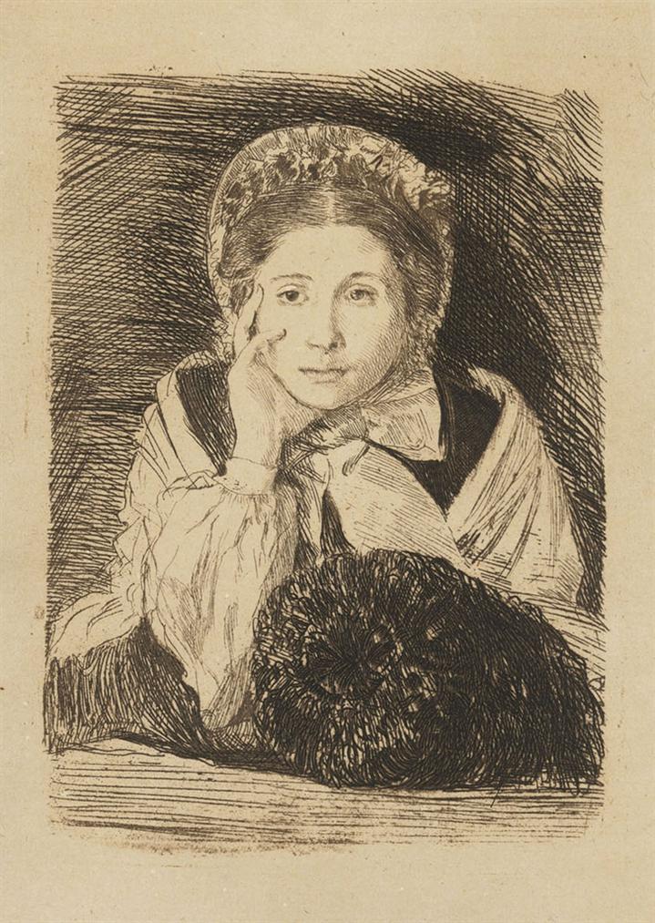 Edgar Degas-Marguerite Degas, The Artists Sister-1862