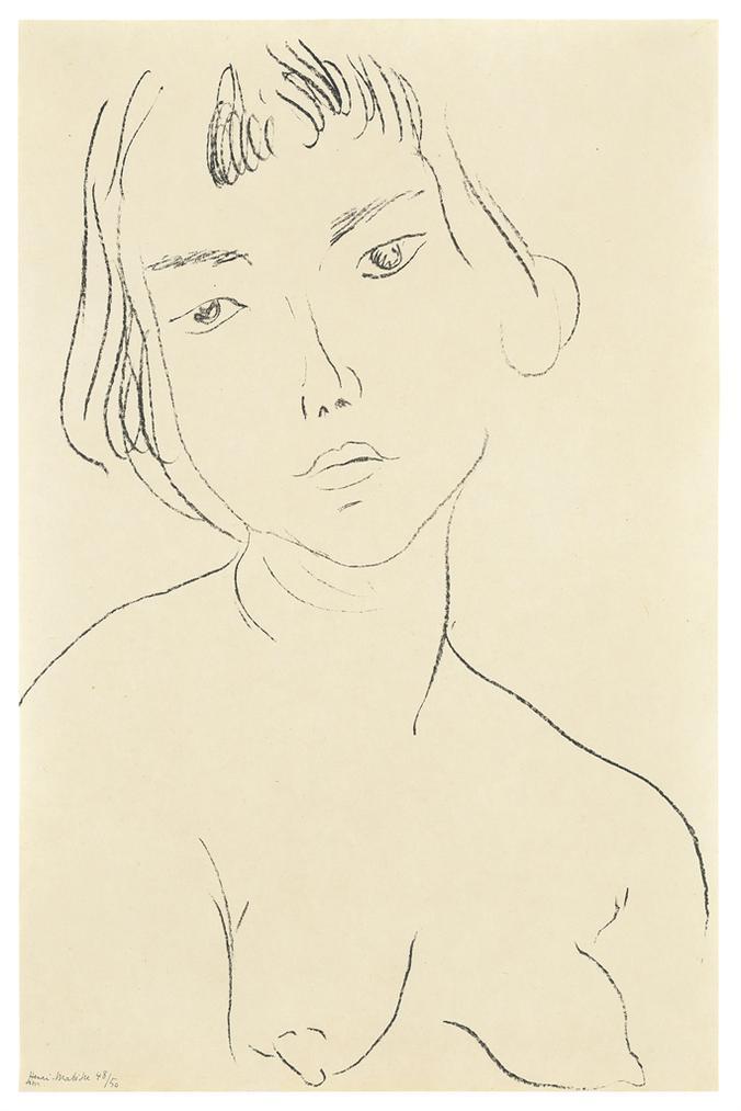 Henri Matisse-Visage Legerement Penche Vers La Gauche-1913