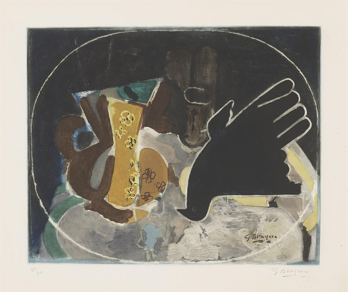 Georges Braque-After Georges Braque - Pichet Et Oiseau-1950