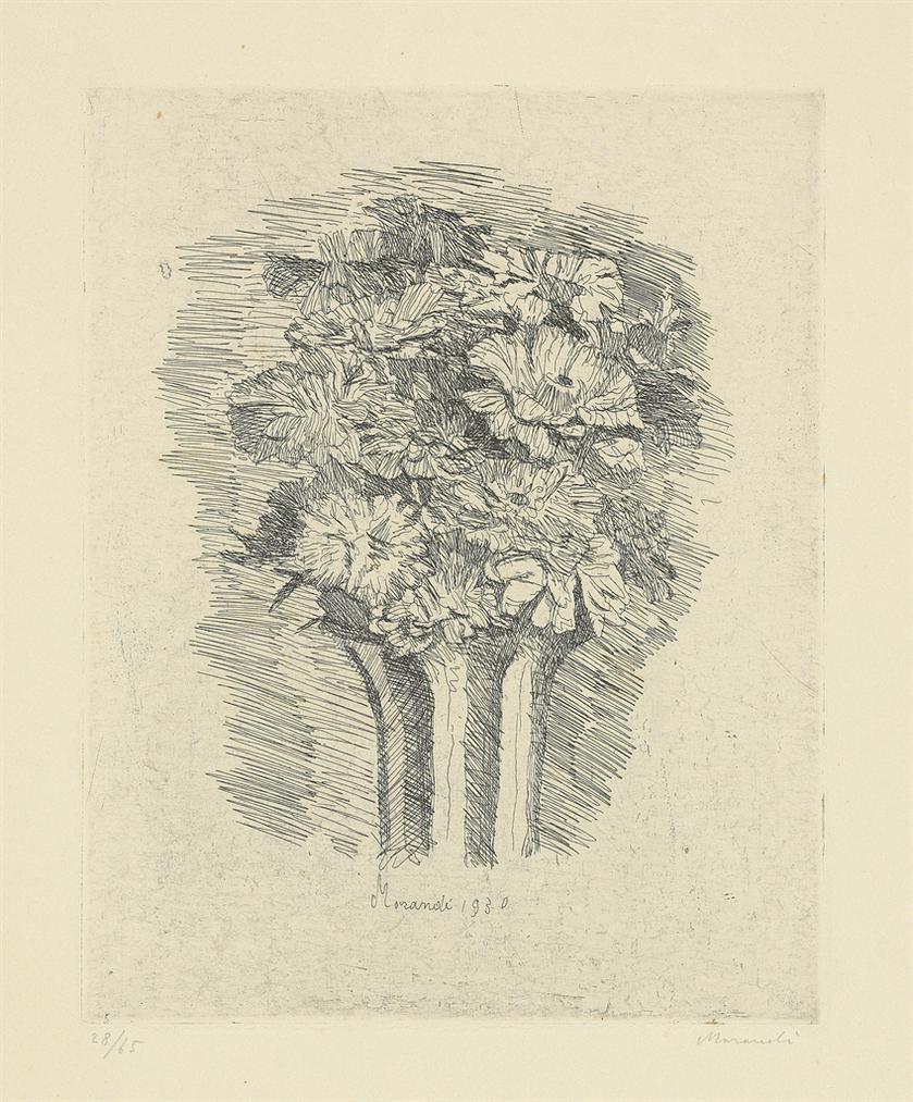 Giorgio Morandi-Zinnie-1930