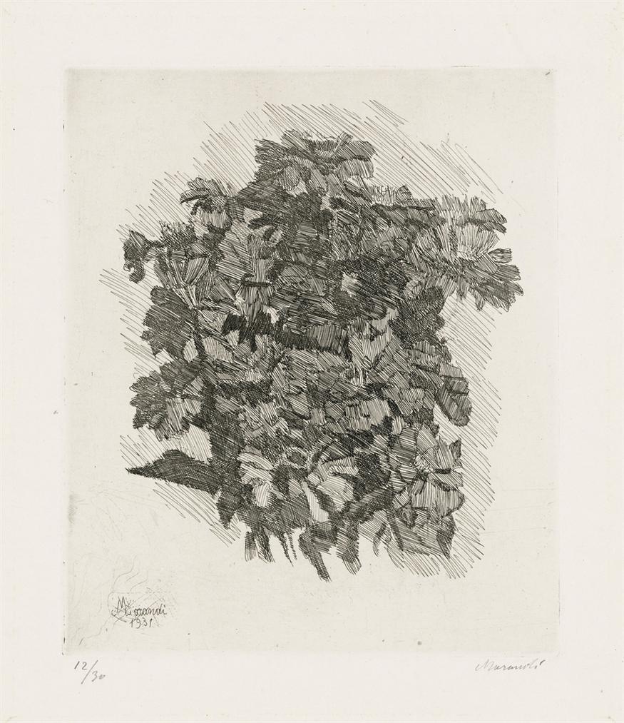 Giorgio Morandi-Gruppo Di Zinnie-1931