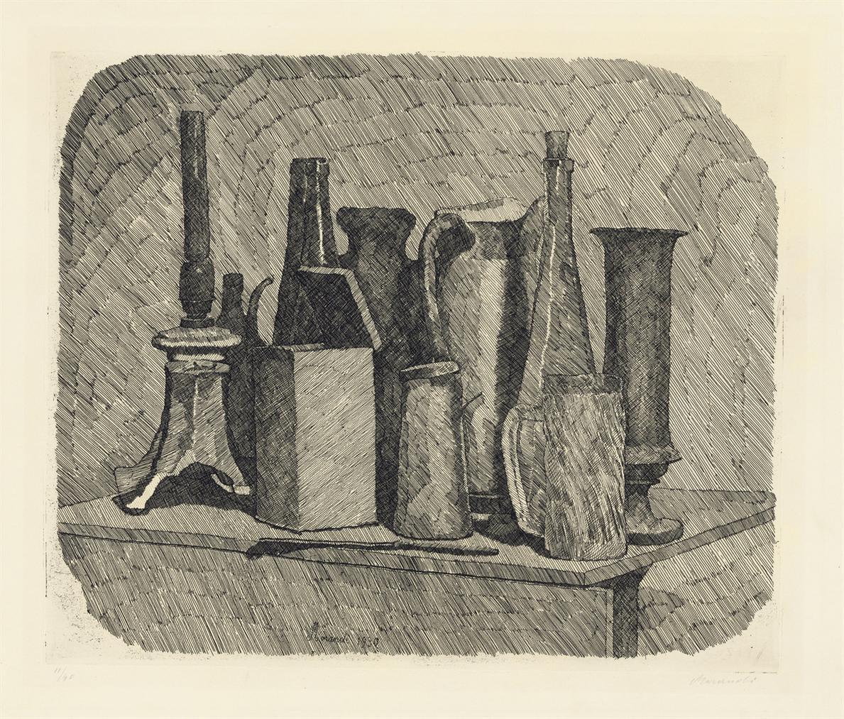 Giorgio Morandi-Grande Natura Morta Con La Lampada A Petrolio-1930