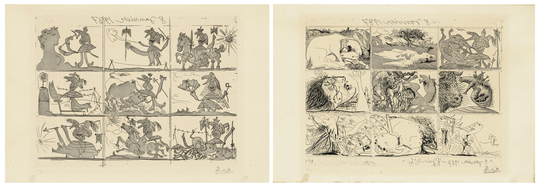 Pablo Picasso-Sueno Y Mentira De Franco I & II-1937