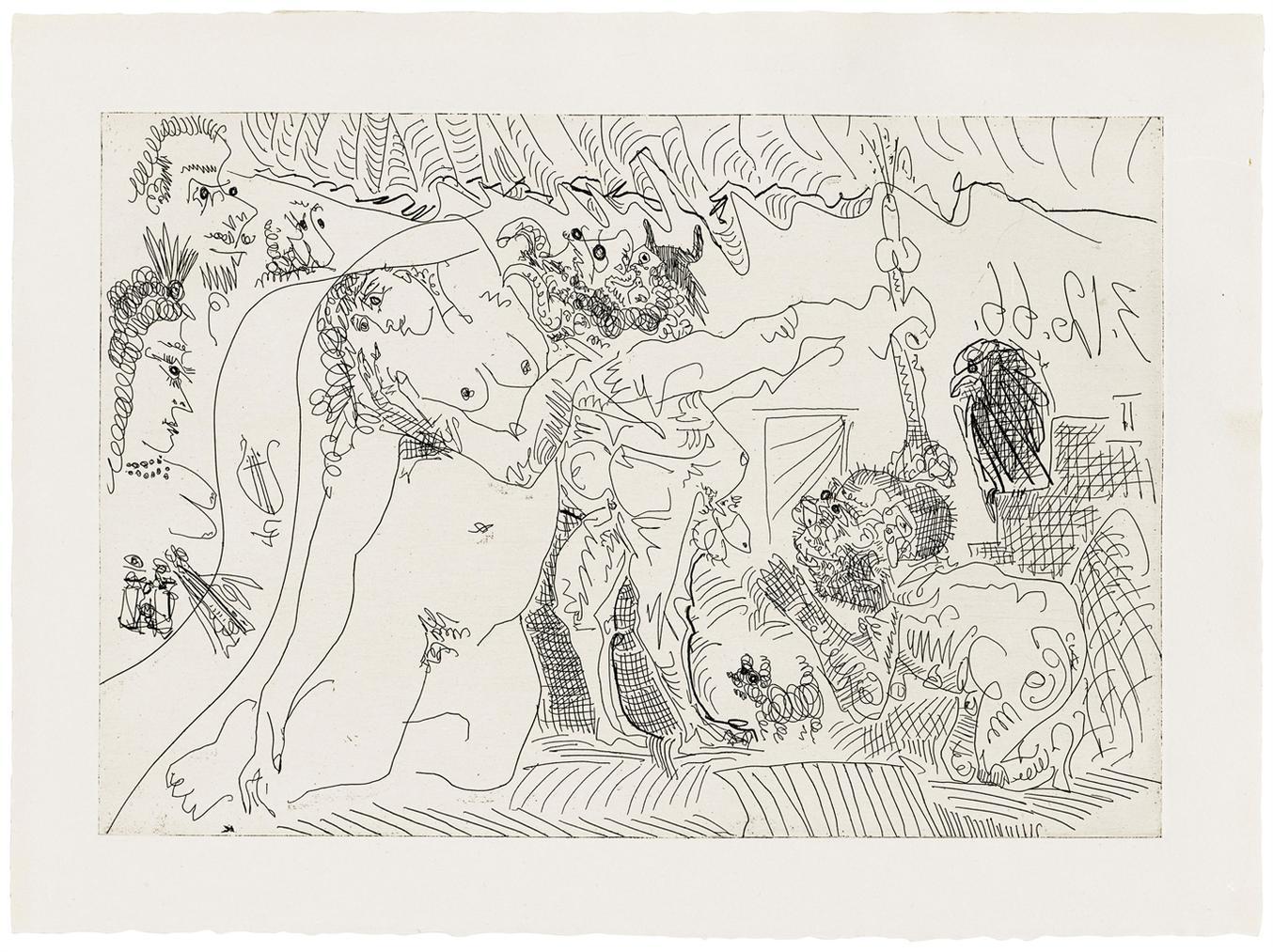 Pablo Picasso-Plate 7, From: El Entierro Del Conde De Orgaz-1966