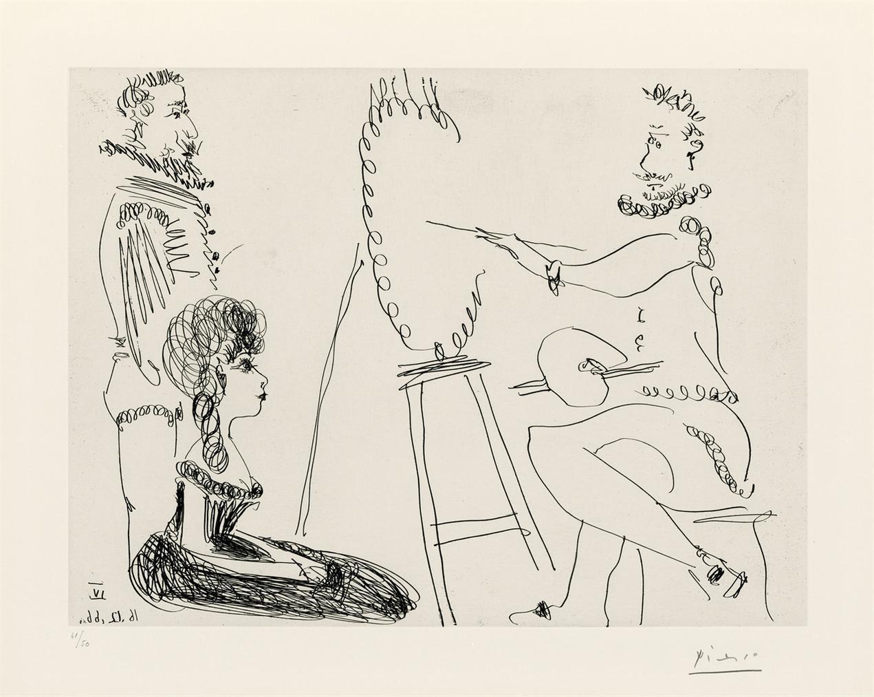 Pablo Picasso-Le Portraitiste-1966