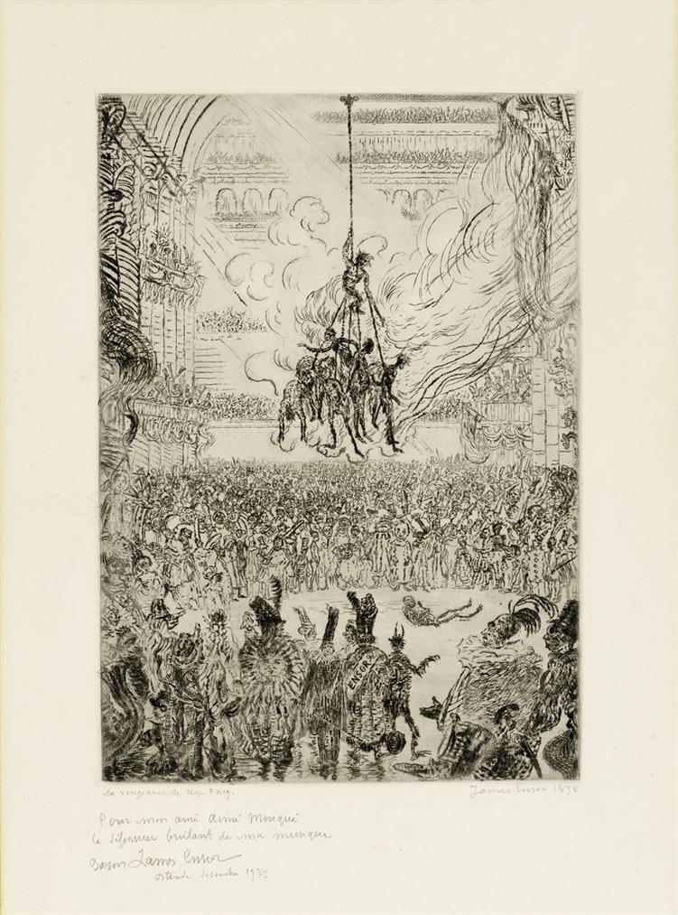 James Ensor-Le Vengeance De Hop Frog (Hop Frogs Revenge)-1898