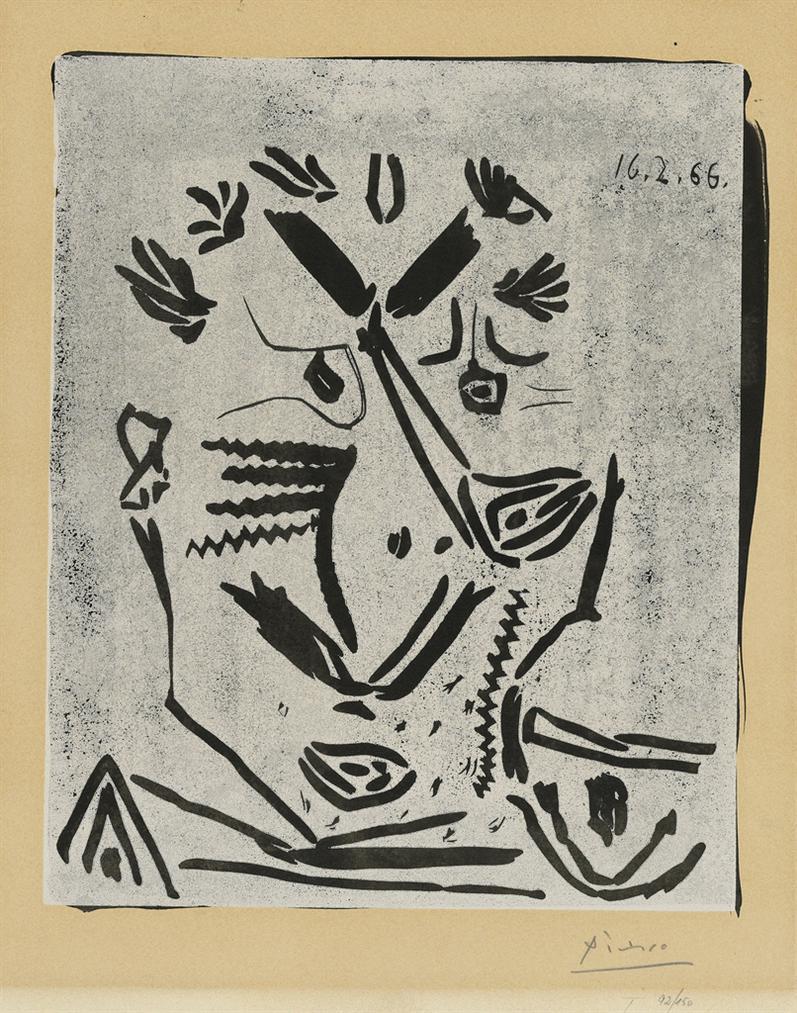 Pablo Picasso-Portrait Dhomme (Notre Dame De Vie)-1966