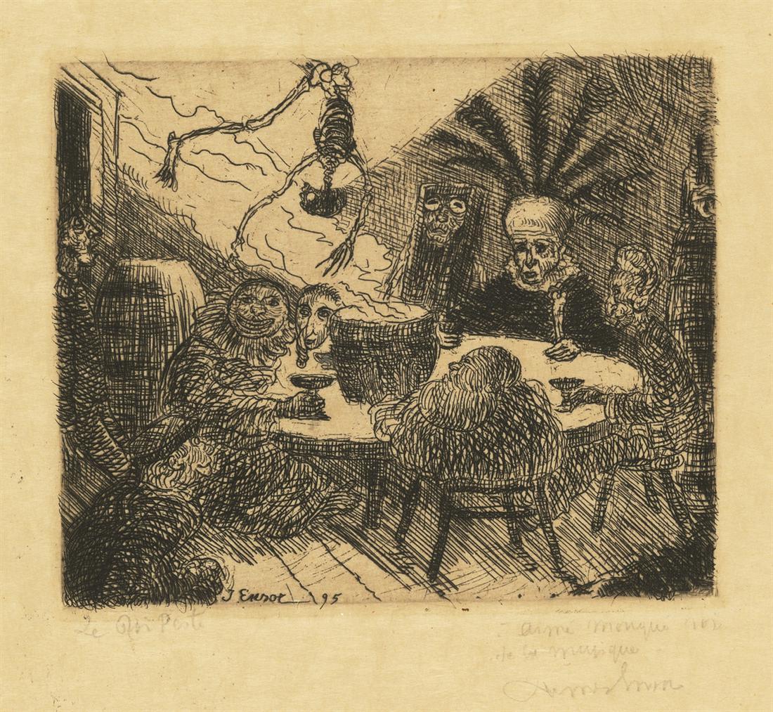 James Ensor-Le Roi Peste (King Pest)-1895