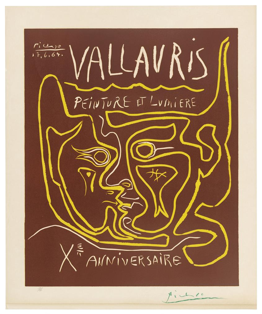 Pablo Picasso-Vallauris. Peinture Et Lumiere. Xe Anniversaire-1964