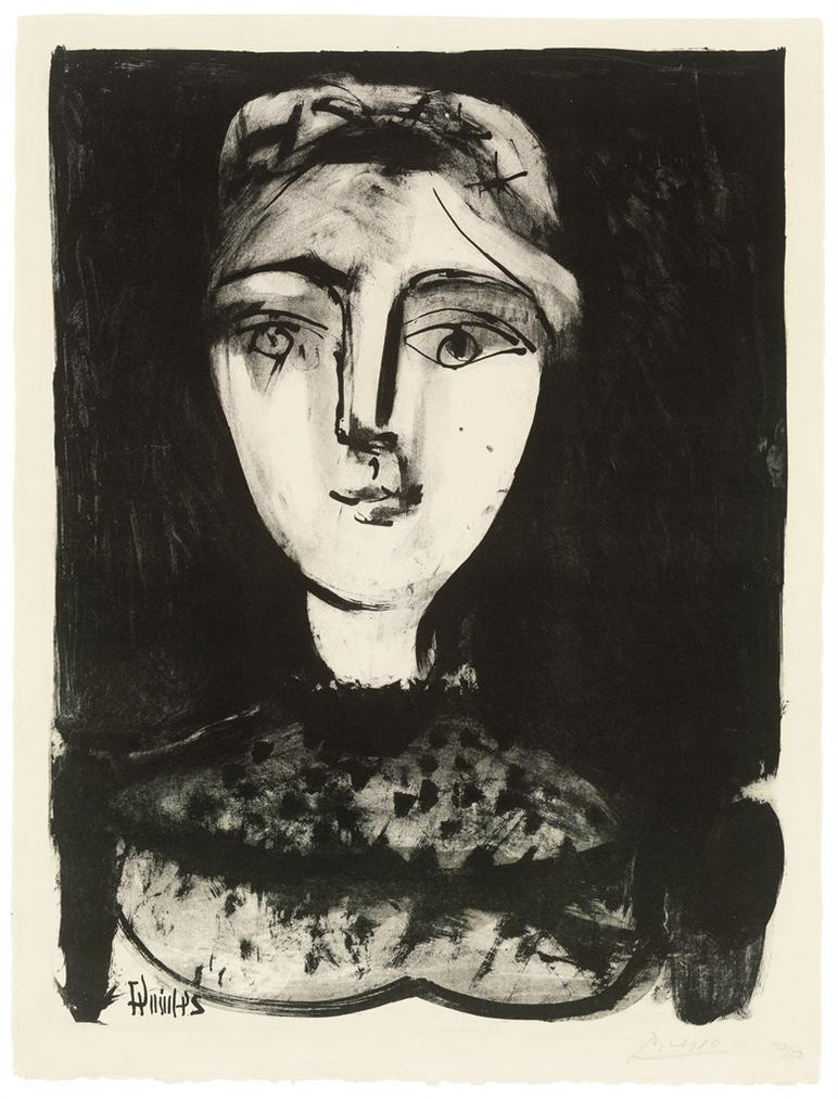 Pablo Picasso-Tete De Jeune Femme-1947