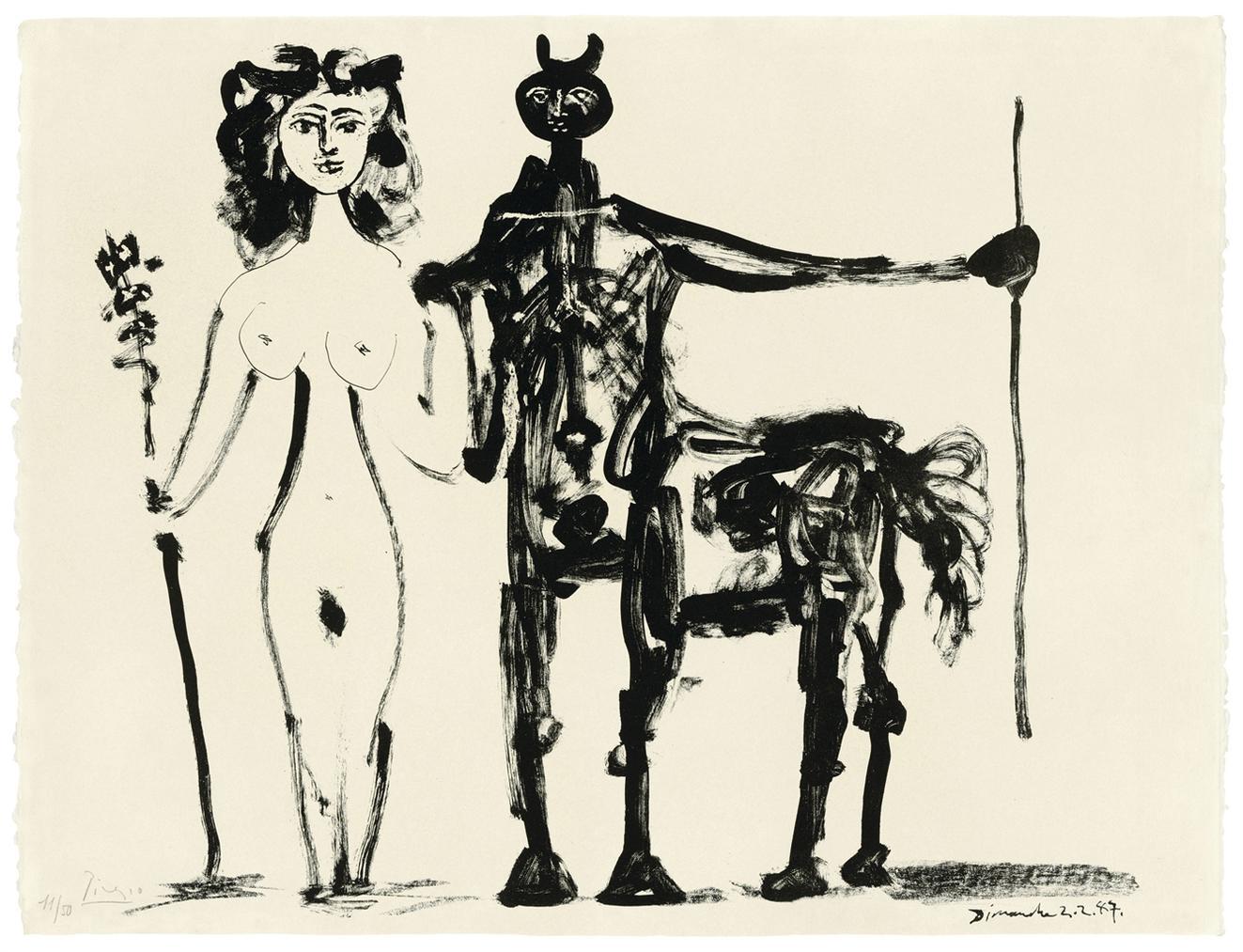 Pablo Picasso-Centaure Et Bacchante-1947